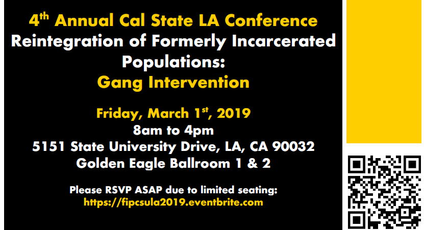 Reintegration of Formerly Incarcerated Populations: Gang Intervention