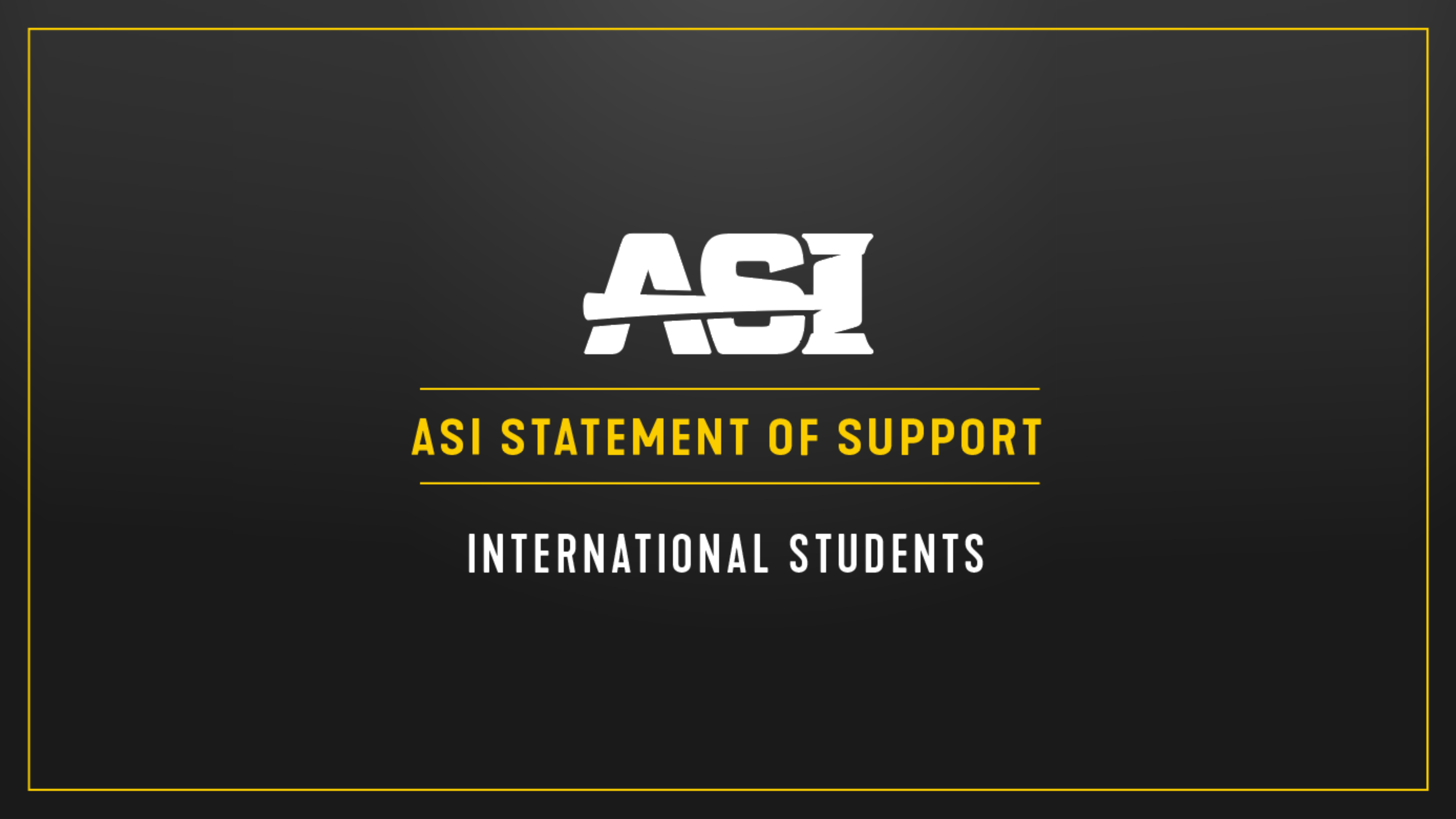 ASI Statement in Support header