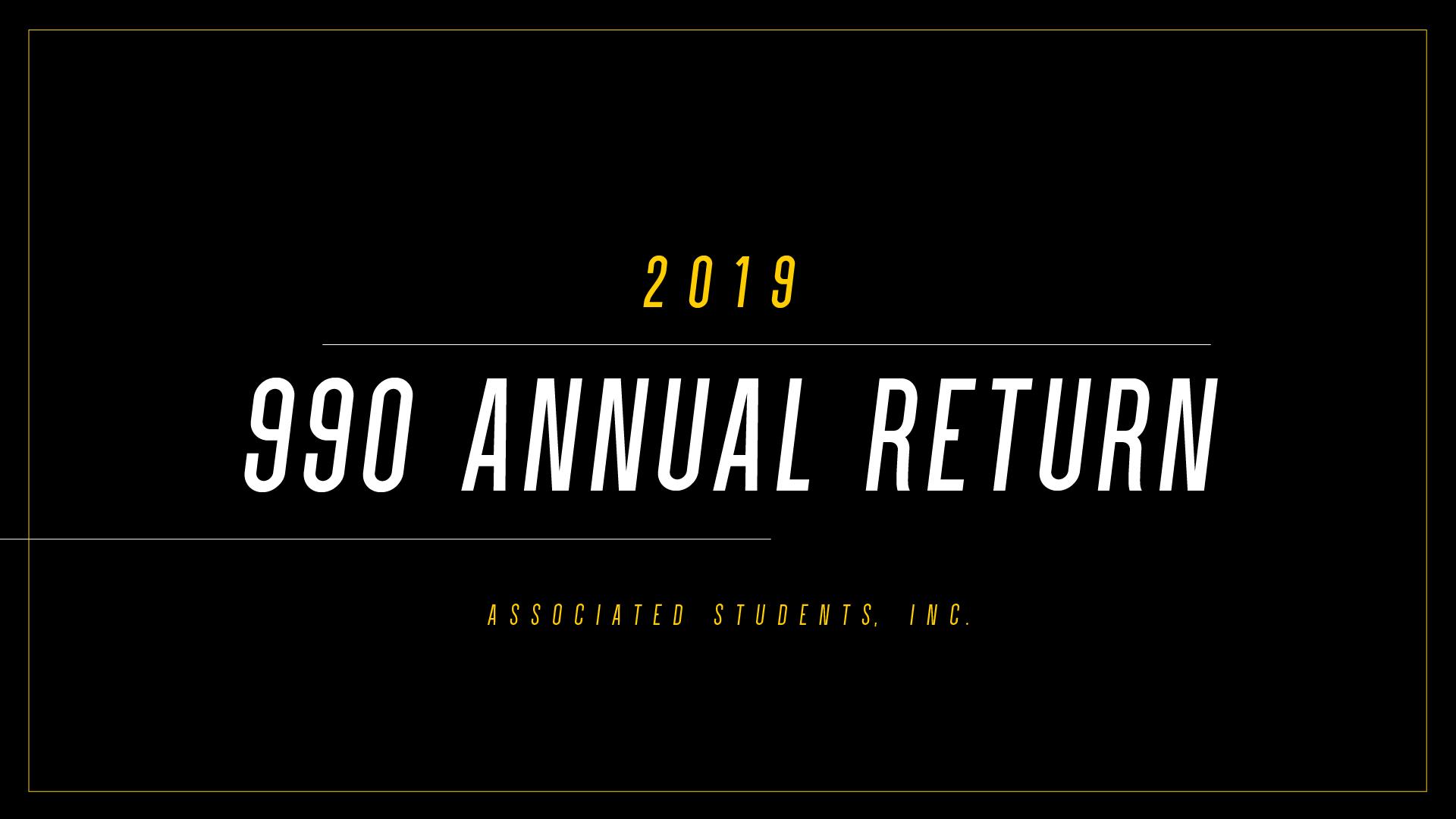 2019 | Annual Tax Return