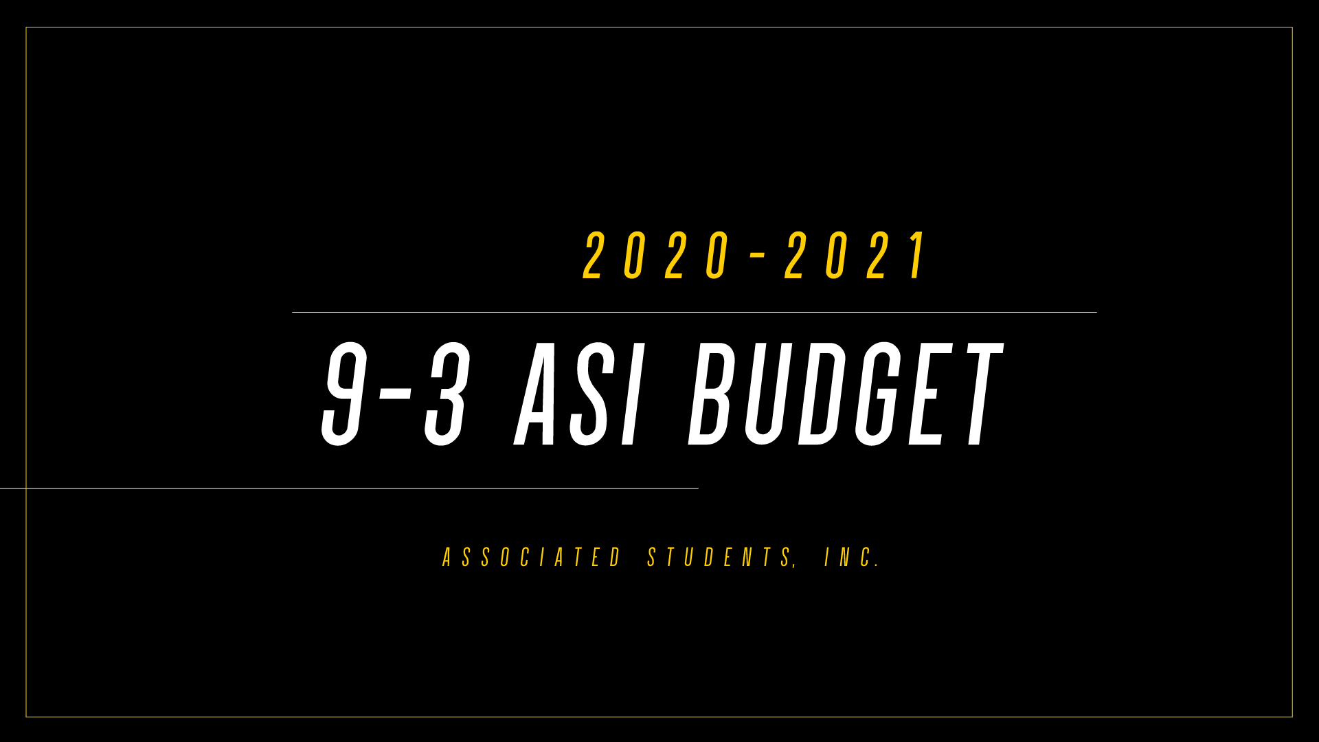 2020-2021 | Approved 9&3 Budget
