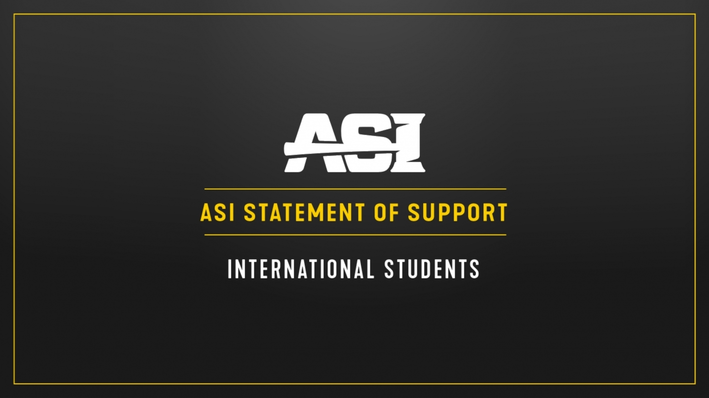 ASI Statement of Support Internatioanl Students