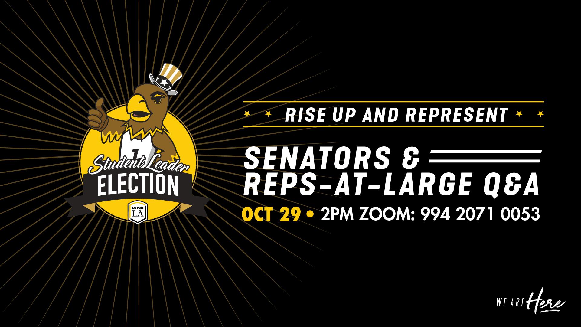 Senators and Reps-at-Large Q&A