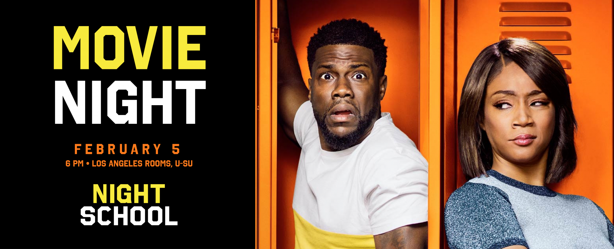 Movie Night: Night School starring Kevin Hart and Tiffany Haddish