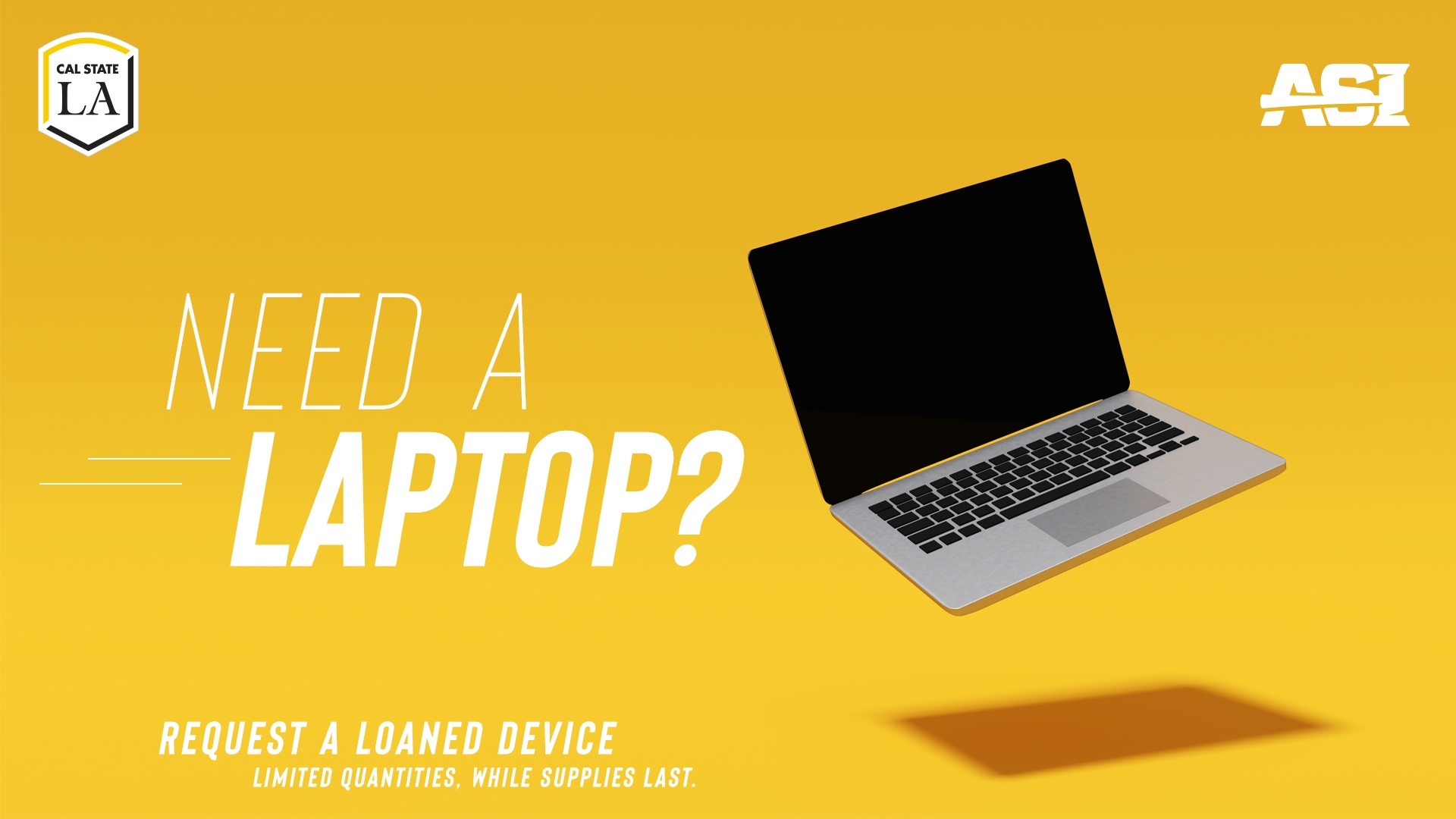 Need a laptop?