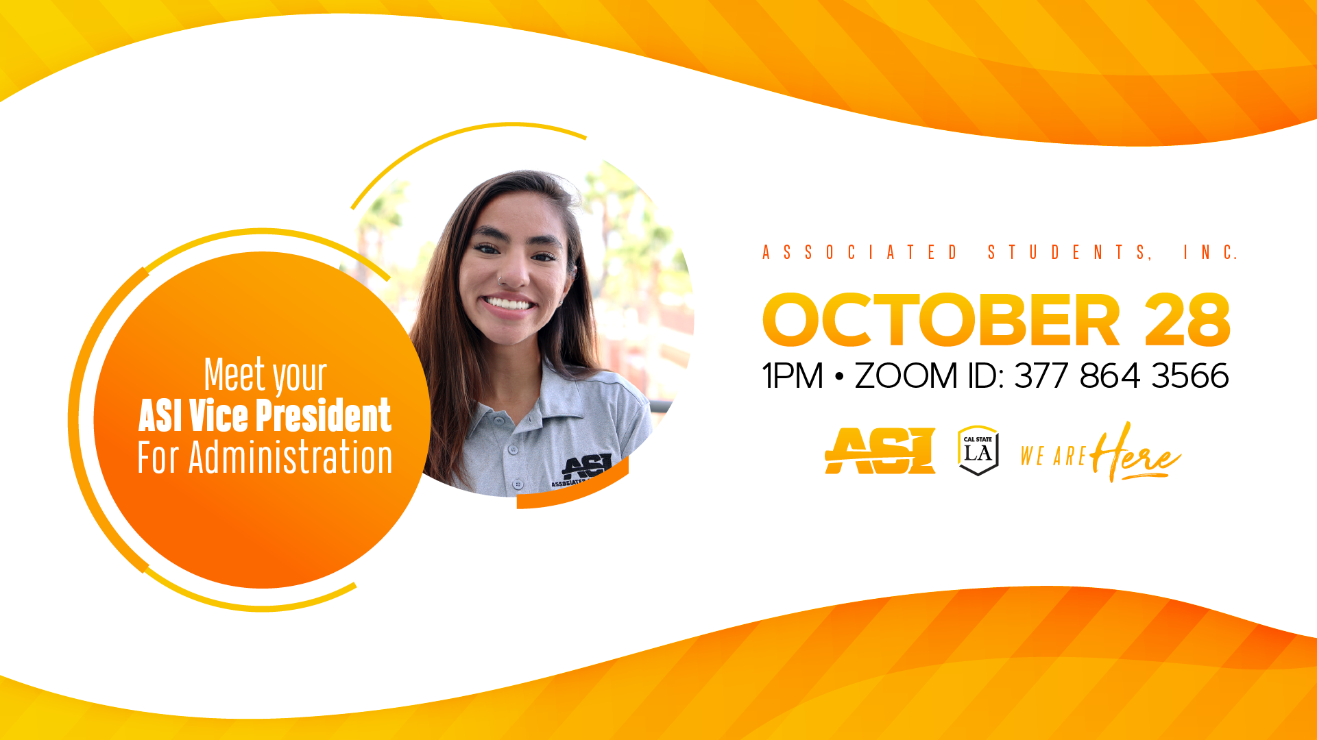 Meet your ASI Vice President for Administration