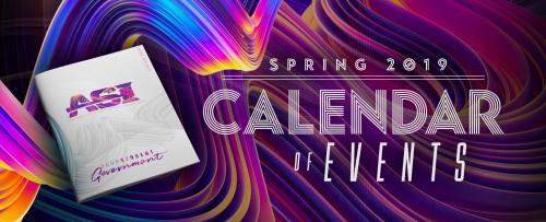 ASI Spring 2019 Calendar or Events