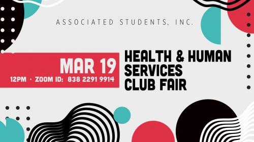 Health and Human Services Club Fair